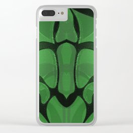 Neo Tribal Green Lacquer Frog Totem Clear iPhone Case