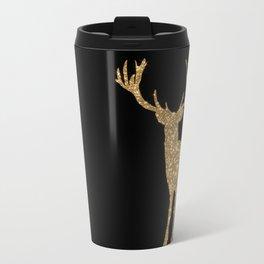 Sparkling golden deer - Wild Animal Animals on #Society6 Travel Mug