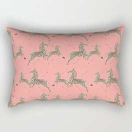 Royal Tenenbaums Zebra Wallpaper - Pink Rectangular Pillow