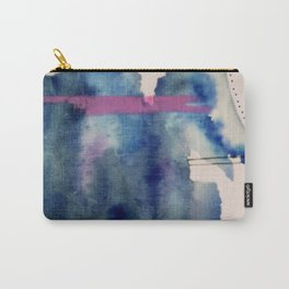 Pour: a blue and purple abstract watercolor Carry-All Pouch