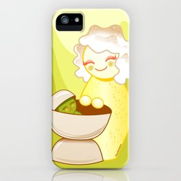 Kokeshis Sweet mother and Little Pistachio iPhone Case