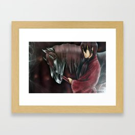 Demon Horse+ Samurai. Framed Art Print