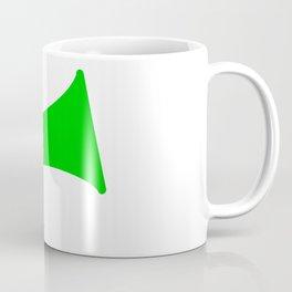 Green Isolated Megaphone Coffee Mug