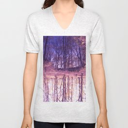 The Nature World up side down Unisex V-Neck