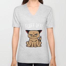 Sarcasm Cat Hasse human evil joke gifts Unisex V-Neck