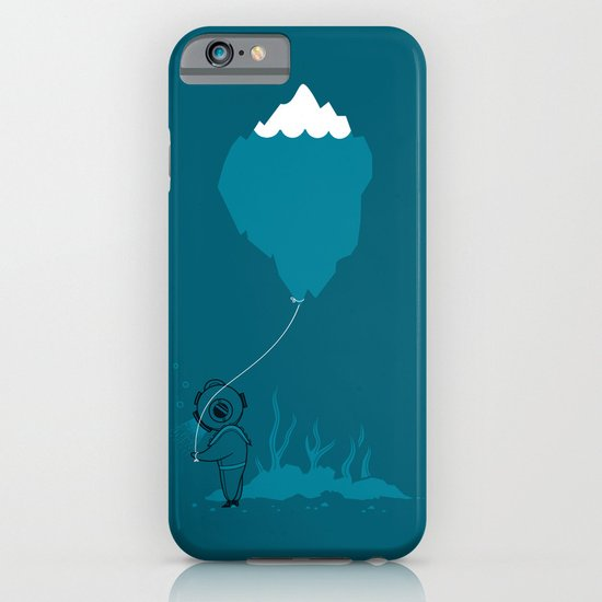 The Diver and his Balloon iPhone & iPod Case