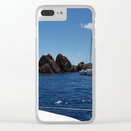 Summer Sea Voyage Clear iPhone Case