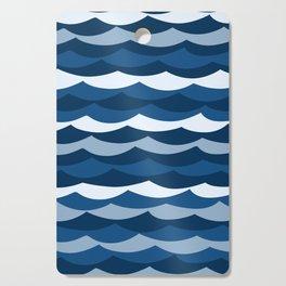Classic Blue Wave Pattern Cutting Board