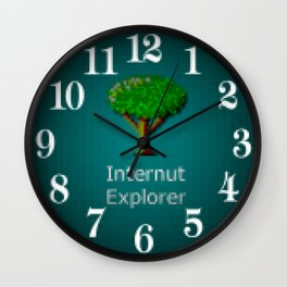 Internut Explorer Wall Clock