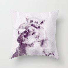 Happy Mother's Day - Lemur - maki catta Throw Pillow