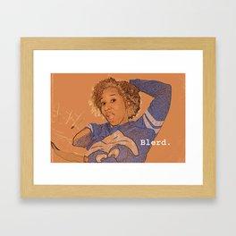 Blerd Confidential  Framed Art Print