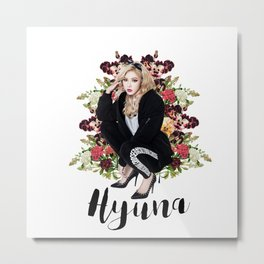 Bad Gal Hyuna Metal Print