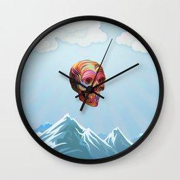 Skull Passes By Wall Clock
