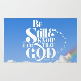 Be Still - Psalm 46:10 Rug