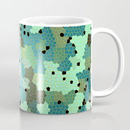 Turquoise Mosaic small pattern Coffee Mug