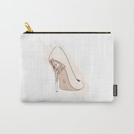 Beige Shoe Carry-All Pouch