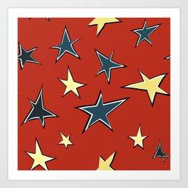 Christmas stars 3 Art Print