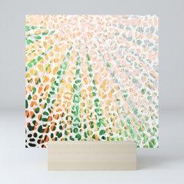 Sunny Leopard Terracotta Mini Art Print