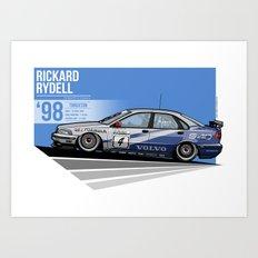 Rickard Rydell - 1998 Thruxton Art Print