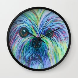 Shih Tzu Dreamy Focus Wall Clock