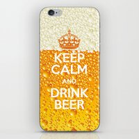 beer iPhone & iPod Skins featuring Beer by Text Guy