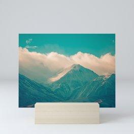 Snow covered mountains. USA Mini Art Print