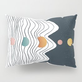 Planet Earth and Solar line Pillow Sham