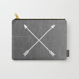 gray crossed arrows Carry-All Pouch