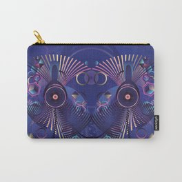 Stylized sound speaker with geometric elements Carry-All Pouch