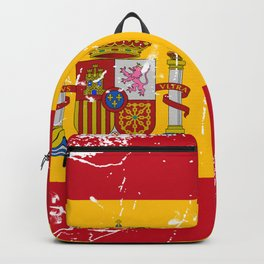 Spain flag with grunge effect Backpack
