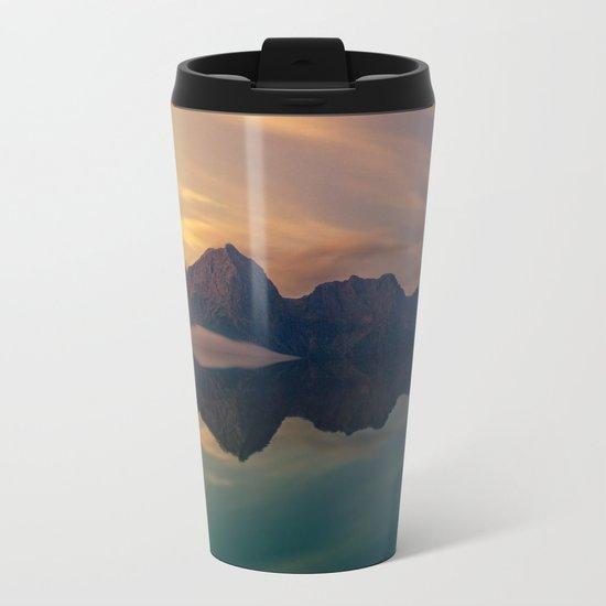 Mountain Reflection Metal Travel Mug