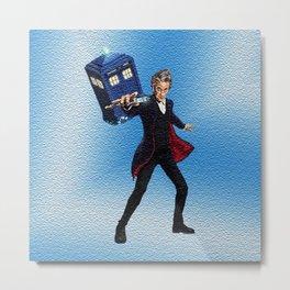 Dr Who & Tardis Metal Print