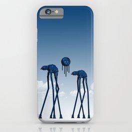 Dali's Mechanical Elephants - Blue Sky iPhone Case