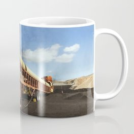 Massive machinery at work in the open-pit Wyodak coal mine in the coal-rich Powder River Basin outsi Coffee Mug