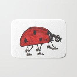 Ladybug Wearing Tap Shoes Gotta Dance Bath Mat