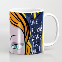Une étoile dans la nuit French Pop Girl Art Decoration Coffee Mug