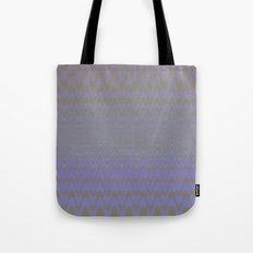 Subtle Wavy Purple and Grey Chevron Heartbeat Pattern Tote Bag
