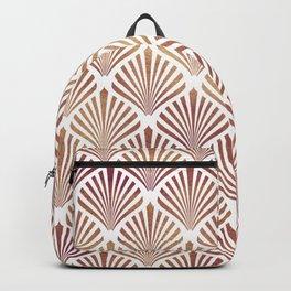 Rose-gold geometric art-deco pattern Backpack