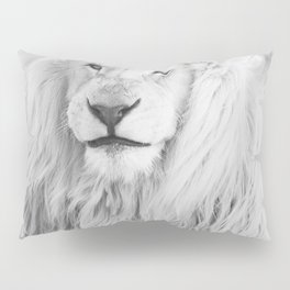 Albino Lion (Black and White) Pillow Sham