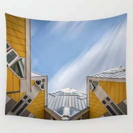 Cube houses in Rotterdam Wall Tapestry
