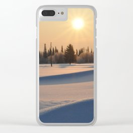 Russian winter Clear iPhone Case