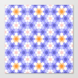 Stars and hexagons Canvas Print