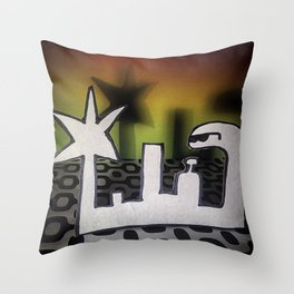 Bathroom of the House Party Throw Pillow