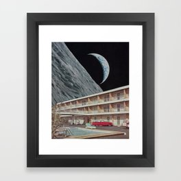 The Edge Motel Framed Art Print