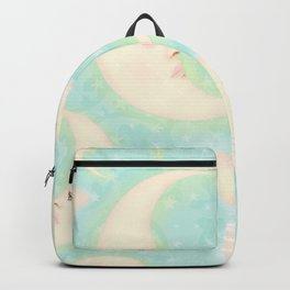 Lady Moons and Stars Pattern Backpack
