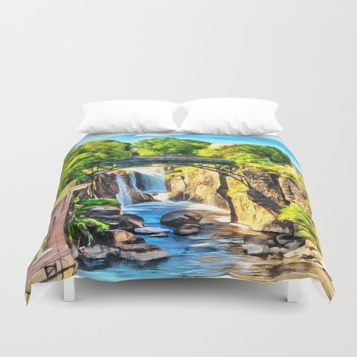 Paterson Great Falls In National Historical Park Duvet Cover By Olechka Tikhonova Society6