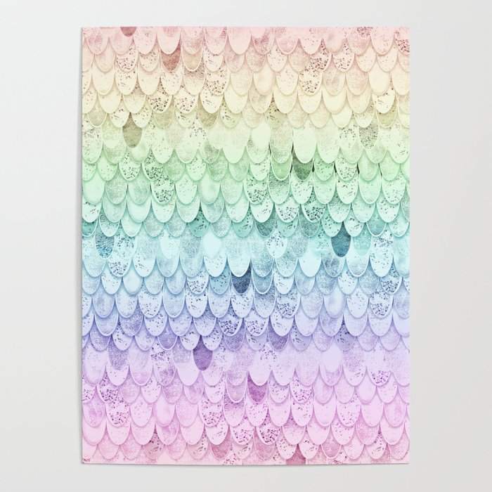RAINBOW MERMAIDSCALES - MAGIC MERMAID Poster
