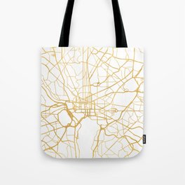 WASHINGTON D.C. DISTRICT OF COLUMBIA CITY STREET MAP ART Tote Bag