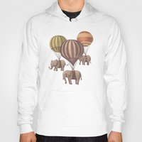 kawaii Hoodies featuring Flight of the Elephants  by Terry Fan