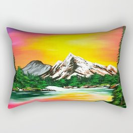 Sunset Mountains Rectangular Pillow